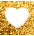 Gold heart frame vector image vector image