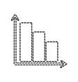 graphic bar icon vector image vector image