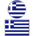 Greek round and square icon flag vector image