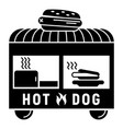 hot dog trailer icon simple style vector image vector image