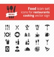 Icons for restaurants vector image