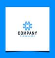 inspirational abstract modern logo design vector image