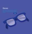 isometric eyeglasses accessory icon vector image