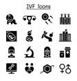 ivf in vitro fertilization icon set vector image