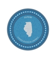 label with map illinois denim style vector image