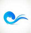 logo blue beach waves vector image vector image