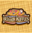 logo for belgian waffles vector image