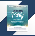 merry christmas beautiful party event flyer design vector image vector image