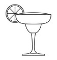 mexican cocktail icon outline style vector image
