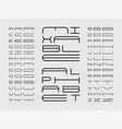 mix font alphabet vector image vector image