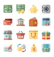 money finance shopping flat icons vector image vector image