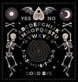 ouija board with skeletons occultism set vector image vector image