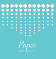 paper background with flowers different shapes vector image vector image