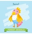 parrot forest animals vector image vector image