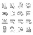 payment icons set vector image vector image
