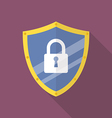 Protective shield flat icon vector image vector image
