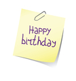 reminder happy birthday color vector image vector image