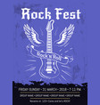 rock n roll fest announcement poster design vector image vector image
