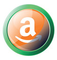 round multicolor amazon wish list icon on a white vector image vector image