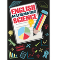 School subjects and symbols vector image