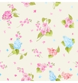 seamless pattern syringa flowers vector image