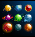 set isolated planets or stars globe cosmos vector image vector image