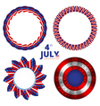 Set of frames to the Independence day of 4th july vector image vector image