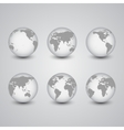 Set of globes World Map vector image vector image