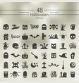 set of halloween icons vector image vector image