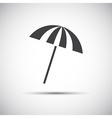 Simple grey beach umbrella vector image vector image