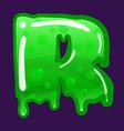 slime font type letter r latin alphabet green vector image vector image