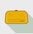 stereo radio icon flat style vector image vector image