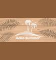 summer logo design hello summer vector image