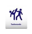 taekwondo sport symbol stickman solid icon vector image vector image