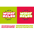watermelon text for print and web vector image vector image