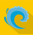 wave water surfing icon flat style vector image