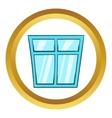 Window icon cartoon style vector image vector image