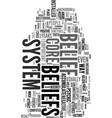 your core belief text word cloud concept vector image vector image