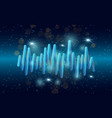 music waves background 3d sound music equalizer vector image