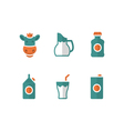 Set flat icons of milk vector image