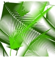 Watercolor tropical palm leaves seamless pattern vector image