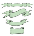 ribbon banners set light grey collection of hand vector image