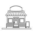 store market business shop building outline vector image