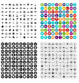 100 auto icons set variant vector image vector image