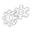 3d gear wheel rendering of 3d vector image vector image