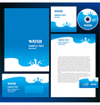abstract creative corporate identity blue water vector image vector image