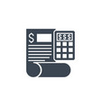 accounting related glyph icon vector image
