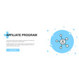 affiliate program icon banner outline template vector image