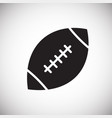 american football icon on white background for vector image vector image