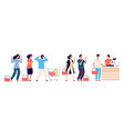 angry people queue dissatisfied and tired vector image vector image